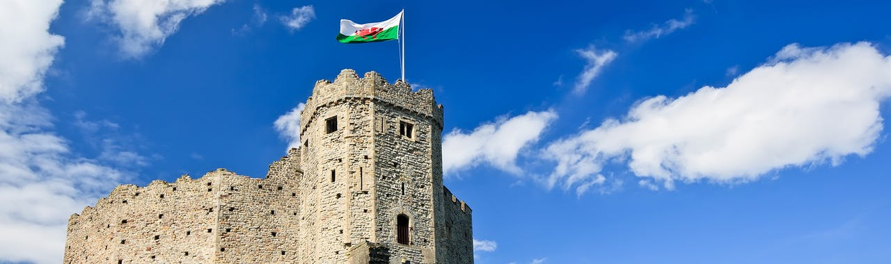 Cardiff, View of Cardiff Castle