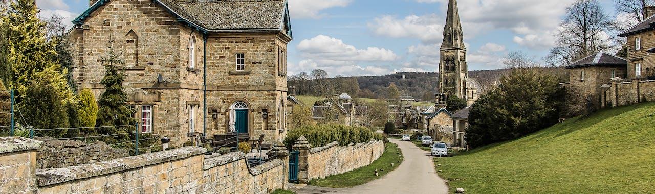 Derbyshire, Edensor Village Chatsworth