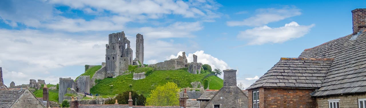 Dorset, Corfe Village and Castle