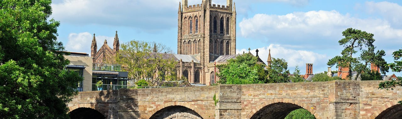 Herefordshire, Cathedral, and the Wye Bridge