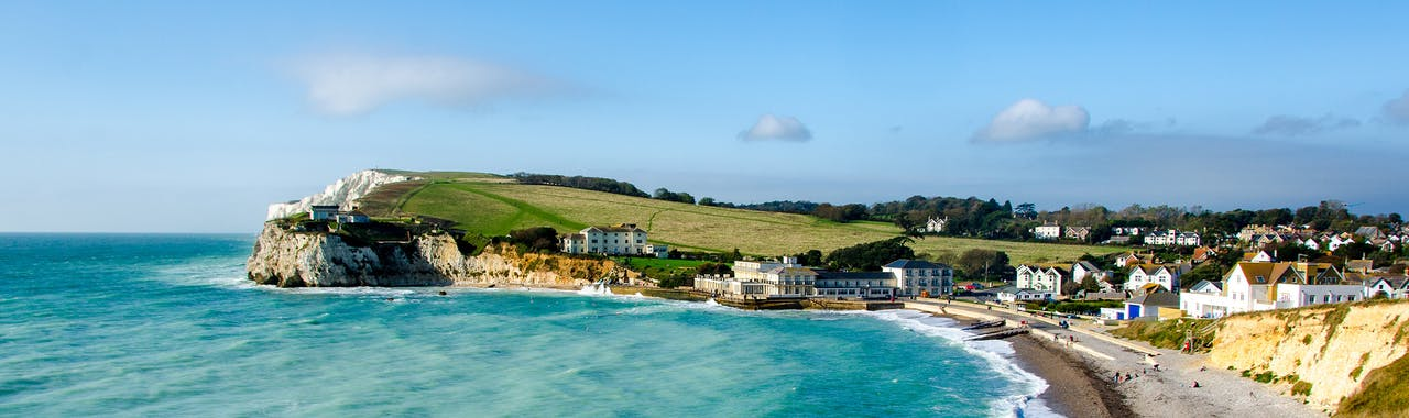 Isle of Wight, Freshwater Bay and Tennyson Down
