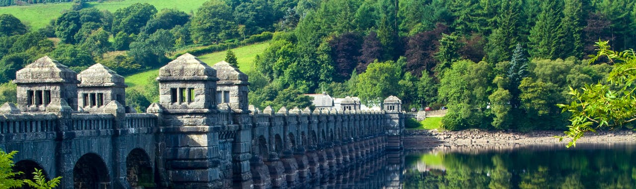 Mid Wales, View of Lake Vyrnwy in Mid Wales
