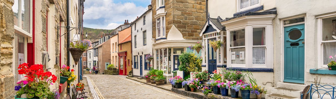 North Yorkshire, coastal town of Staithes on the north east Yorkshire coast