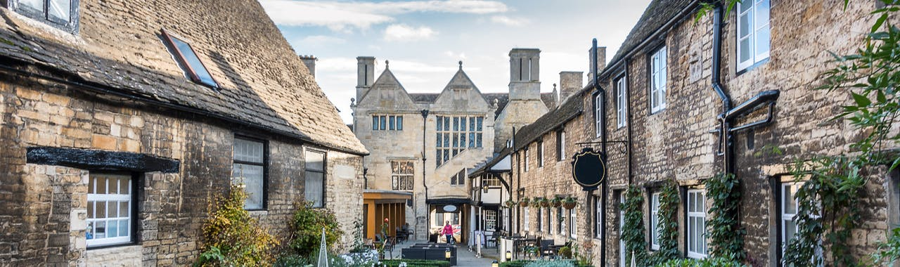 Northamptonshire, a street in Oundle a small town in the county of Northamptonshire