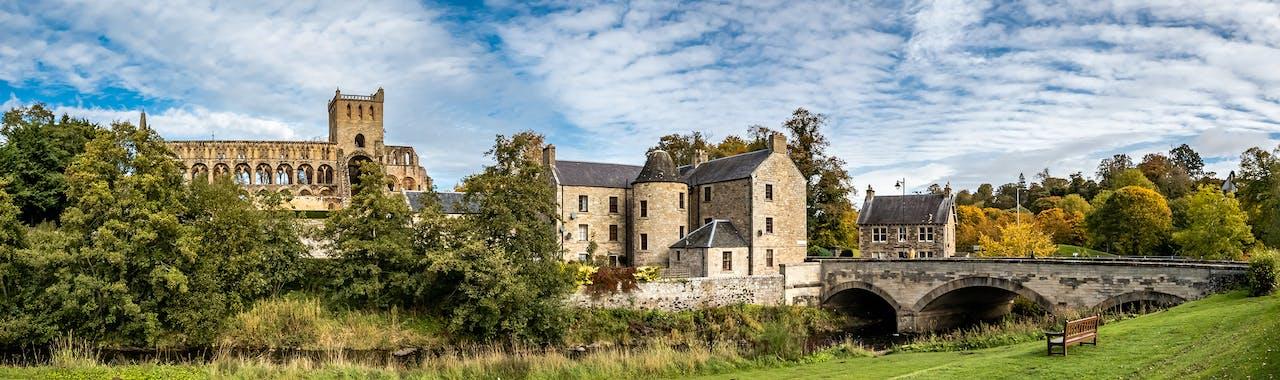 Scottish Borders, Jedburgh Abbey in borders region of Scotland