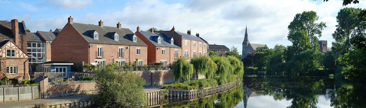 Shropshire, River Severn at Shrewsbury