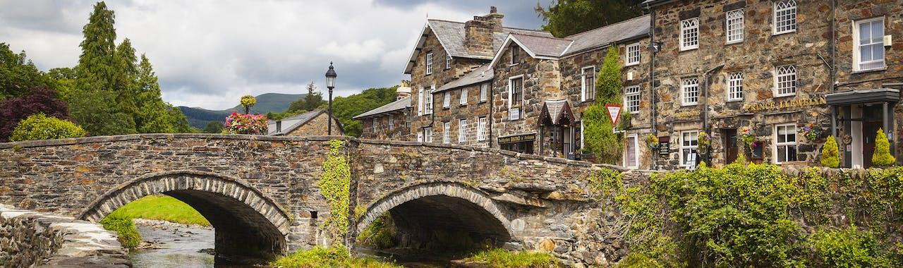Snowdonia, Beddgelert in Snowdonia Nationalpark, Wales
