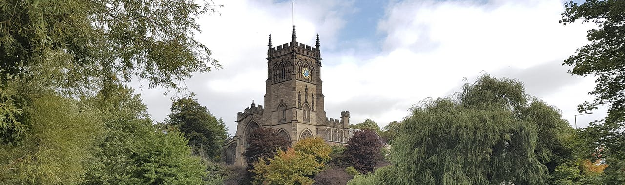Staffordshire, St Mary's Church and the Staffordshire Worcestershire Canal