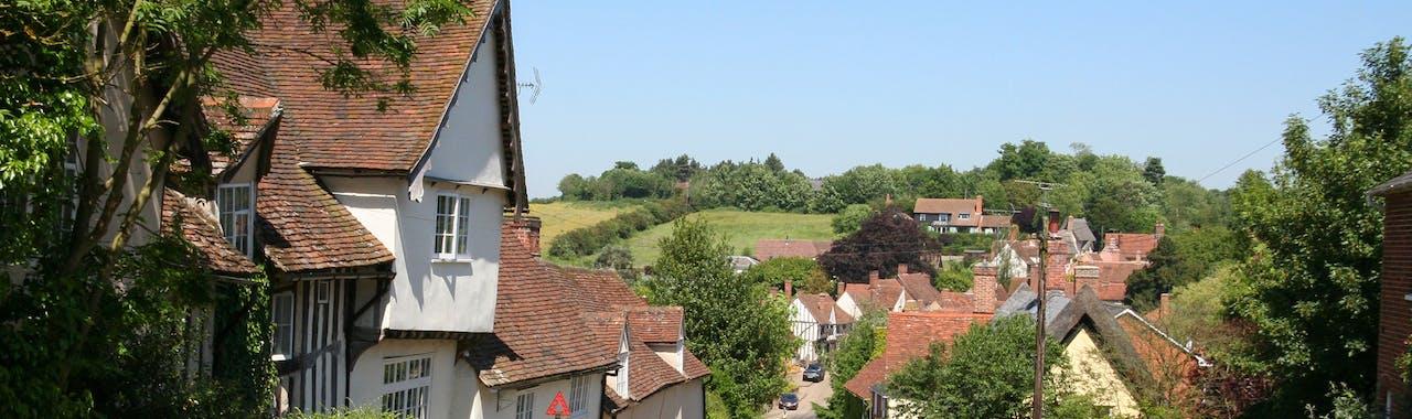 Suffolk, the main street in Kersey